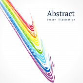 Abstract Vector Background With Bright Color Lines