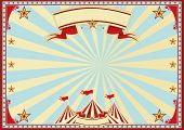 Horizontal blue sunbeams circus. Horizontal circus background for a poster. Ideal background for a s