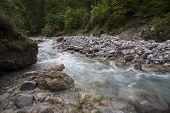Wimbach River In Nationalpark Berechtesgaden