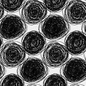 Seamless Abstract  Vector Scribble Pattern