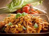 pasta with seitan ragout