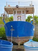 fishing boat for sale in the port