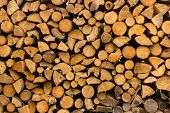 stacked fire wood background