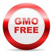 gmo free glossy web icon