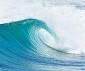 big wave breaking - summer background