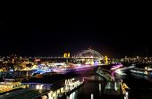 Lights on Sydney Ferries for Vivid Festival