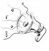Megaphone sketch icon