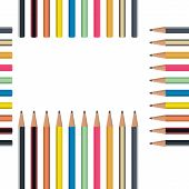 Pencil Seamless Pattern. Vector