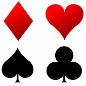 Four Playing Cards Icons