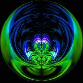 Abstrakte magische Kugel