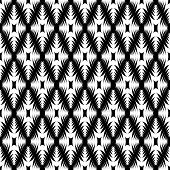 Design Monochrome Geometric Diamond Pattern