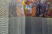 Washington, DC - Vietnam Memorial Wall in the Fall