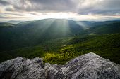 Linville Gorge Sun Rays