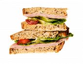 English Multigrain Bread Ham Sandwich