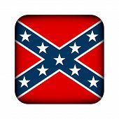 foto of confederate flag  - National flag of the Confederate States of America button  - JPG