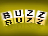 Buzz Blocks Displays Excitement Attention And Public Visibility