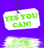 Yes You Can! On Hook Displays Inspiration And Motivation