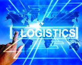 Logistics Map Displays Logistical Coordination And International Plans