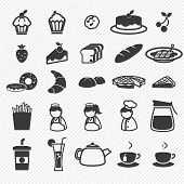 Bakery icons set  illustration eps10