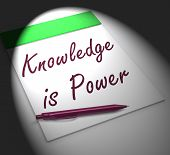 Knowledge Is Power Notebook Displays Successful Intellect And Mental Strength