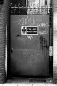 Vandalized Fire Exit Door