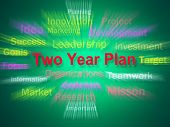 Two Year Plan Brainstorm Displays Planning For Next 2 Years