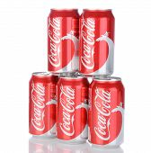 Five Cans Of Coca-cola