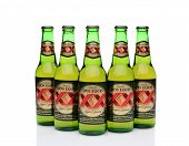 Five Bottles Of Dos Equis Beer