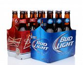 Six Packs Of Bud Light And Budweiser