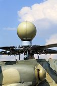 foto of attack helicopter  - Spherical radome radar of the russian attack helicopter - JPG