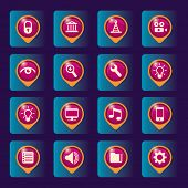 Computer icons set. Vector illustration.