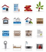 Realistische Immobilien-Symbole
