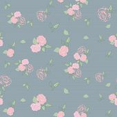Roses pale seamless pattern