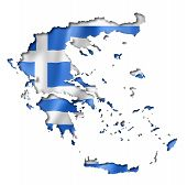 Greek Flag Map