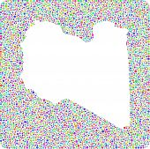 Isolated Map of Libya (Africa)