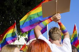 picture of bisexual  - The first Gay Pride Parade in Cyprus to celebrate LGBT lesbian gay bisexual and transgender rights - JPG