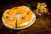 foto of epiphany  - Roscon de Reyes traditional Spanish Epiphany cake - JPG