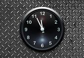Clock On Metal Wall