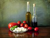 foto of vinegar  - Healthy and simple salad based on absolute fresh ingredients - JPG