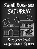 Small Business Saturday Chalk Board Sign