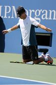 Grand Slam champion Mike Bryan during US Open 2014 semifinal doubles match