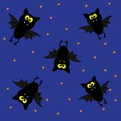 Cute bats. Happy Halloween pattern.