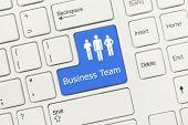 White Conceptual Keyboard - Business Team (blue Key)