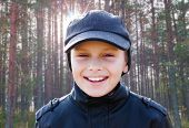 Child Boy Happy Smile Backlight Portrait Sunshine Forest Background