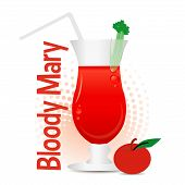 image of bloody mary  - A glass of Bloody Mary Cocktail with tomato - JPG