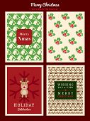 Christmas Pattern Background For Invitation Card / Poster / Flyer / Web Banner