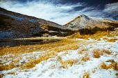picture of saddening  - types of mountain landscapes in the Carpathian mountains - JPG