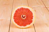 Grapefruit fruit on table.