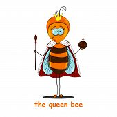 image of scepter  - The queen bee is holding a scepter and orb - JPG