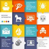 Hacker infographic set